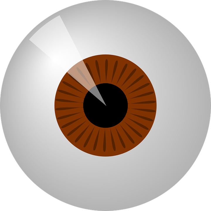 clipart black and white Eyeball Graphic Group