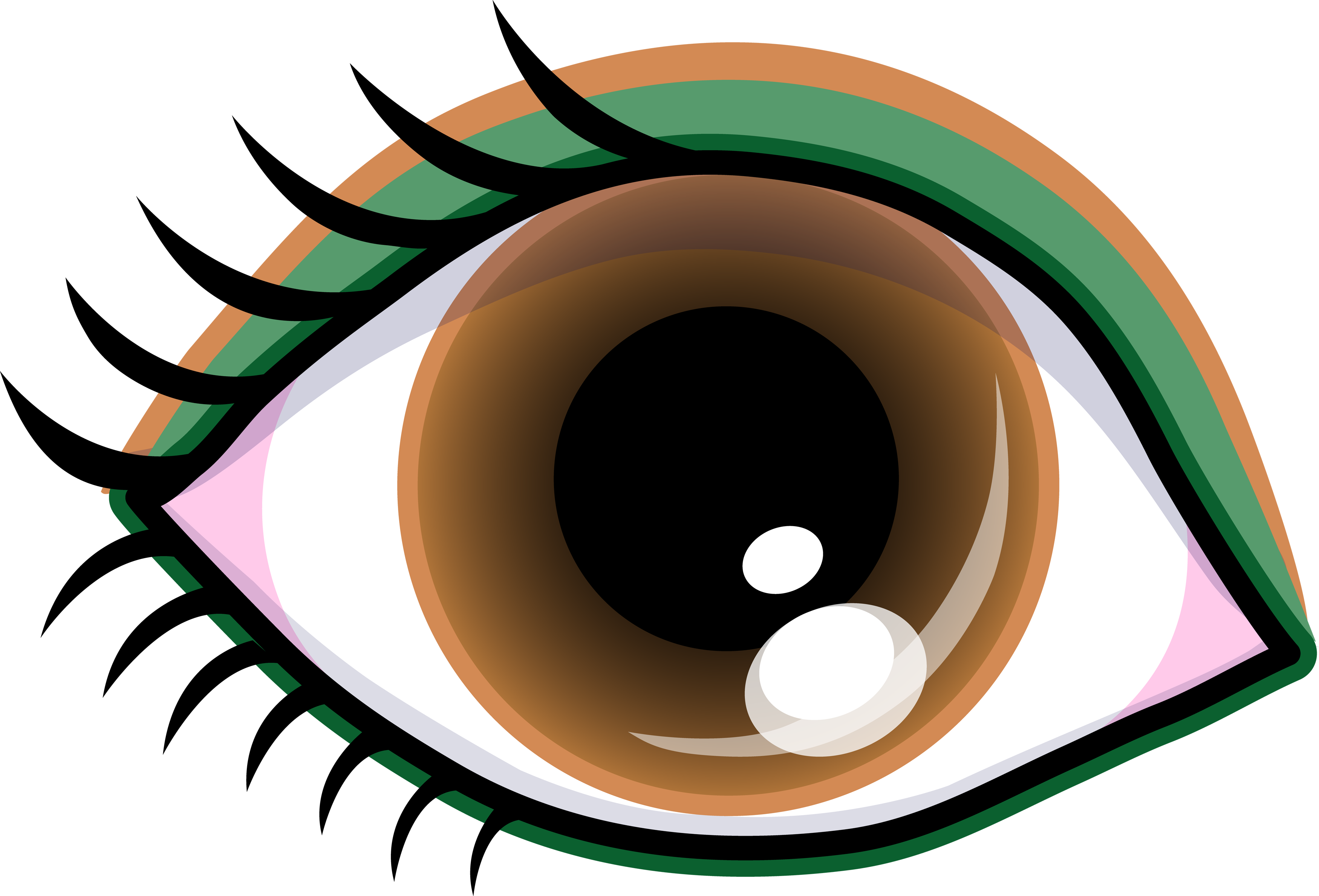 svg transparent download Clip art black and. Vision clipart cute eye