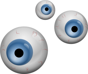 vector free Blue clip art at. Eyeballs clipart