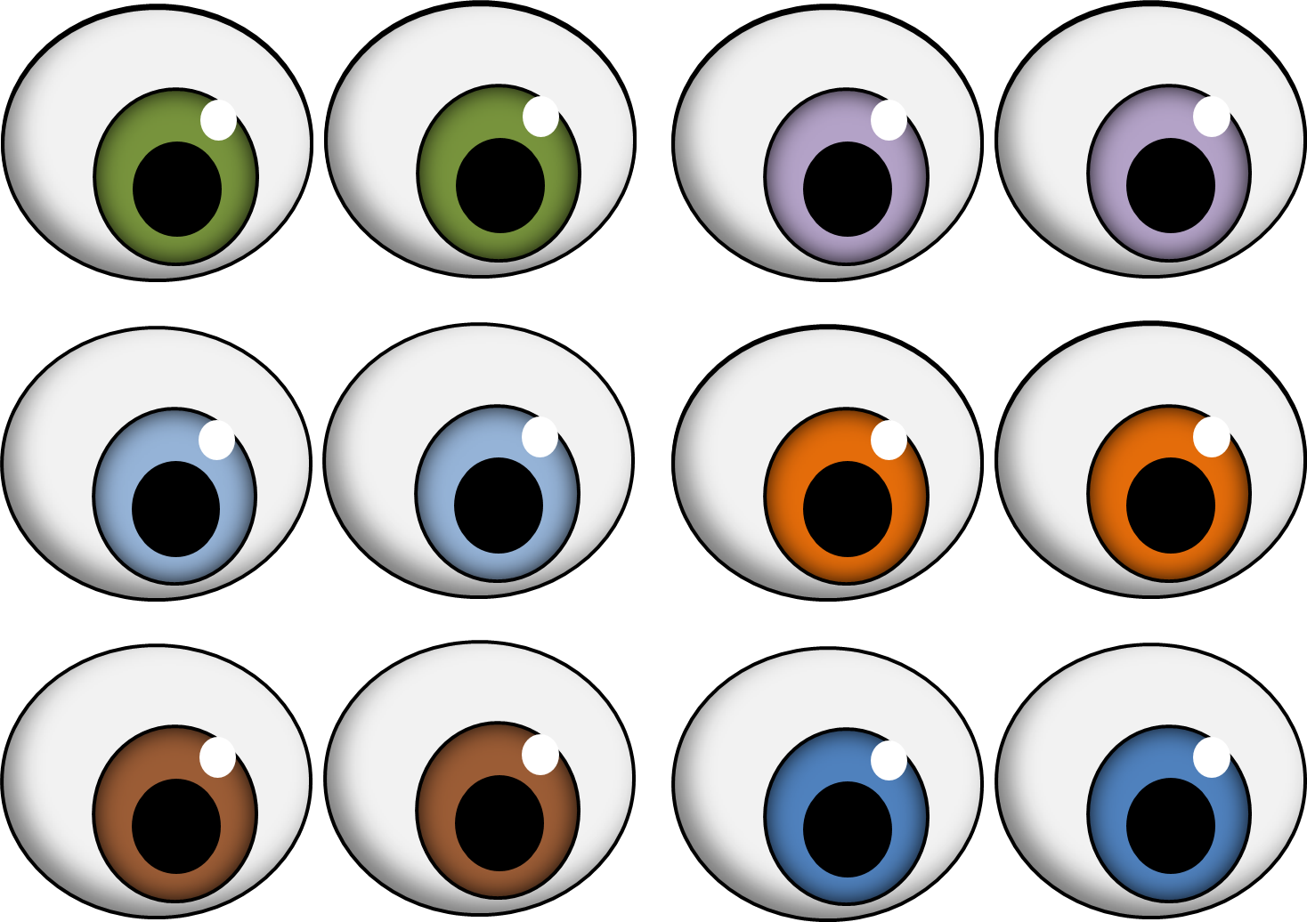 svg library library Oval Eyes
