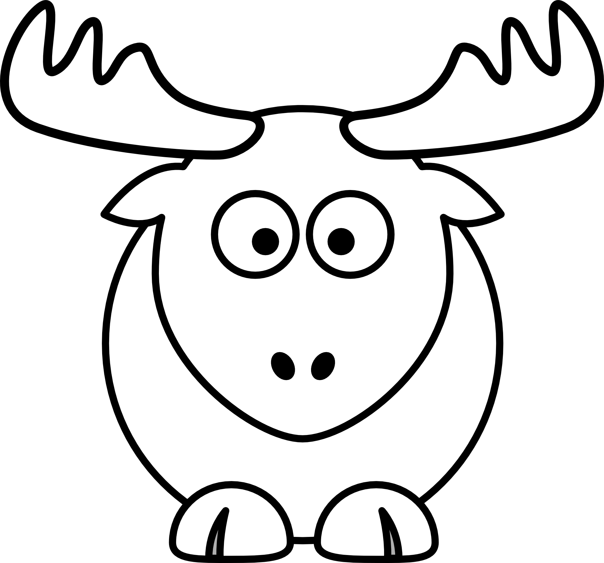 clip art free library Cool Ideas Reindeer Clipart Black And White Face ClipartXtras