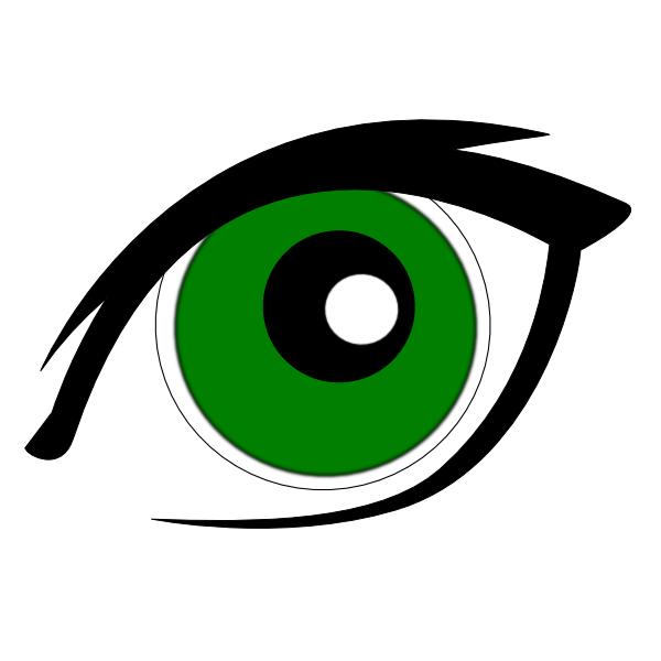 clip stock Green Eyes Clip Art at Clker