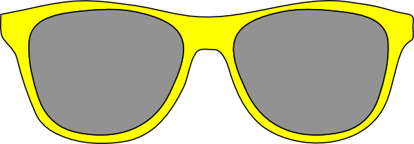 clipart royalty free library Yellow sunglasses panda free. Goggles clipart glares