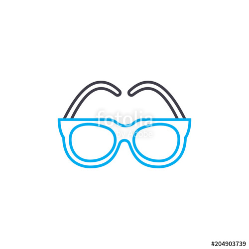 image library Optical glasses vector thin line stroke icon