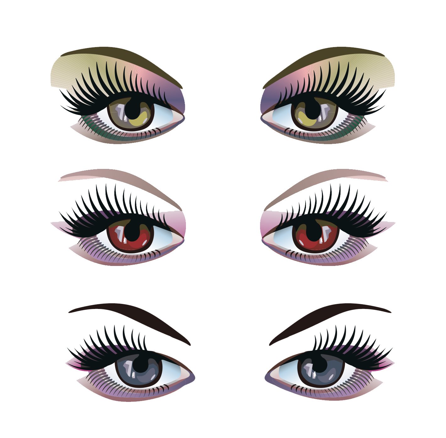 clipart black and white stock Pink eyes clipart eyelash extension