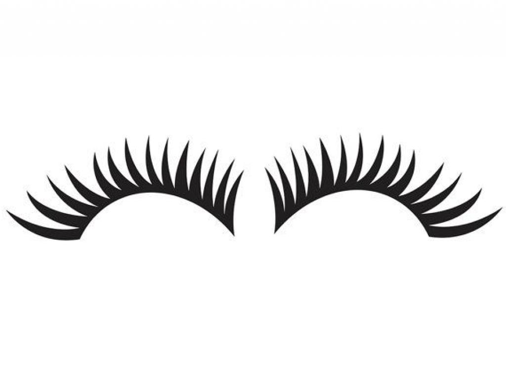 jpg black and white stock  thick eyelash for. Eyelashes clipart