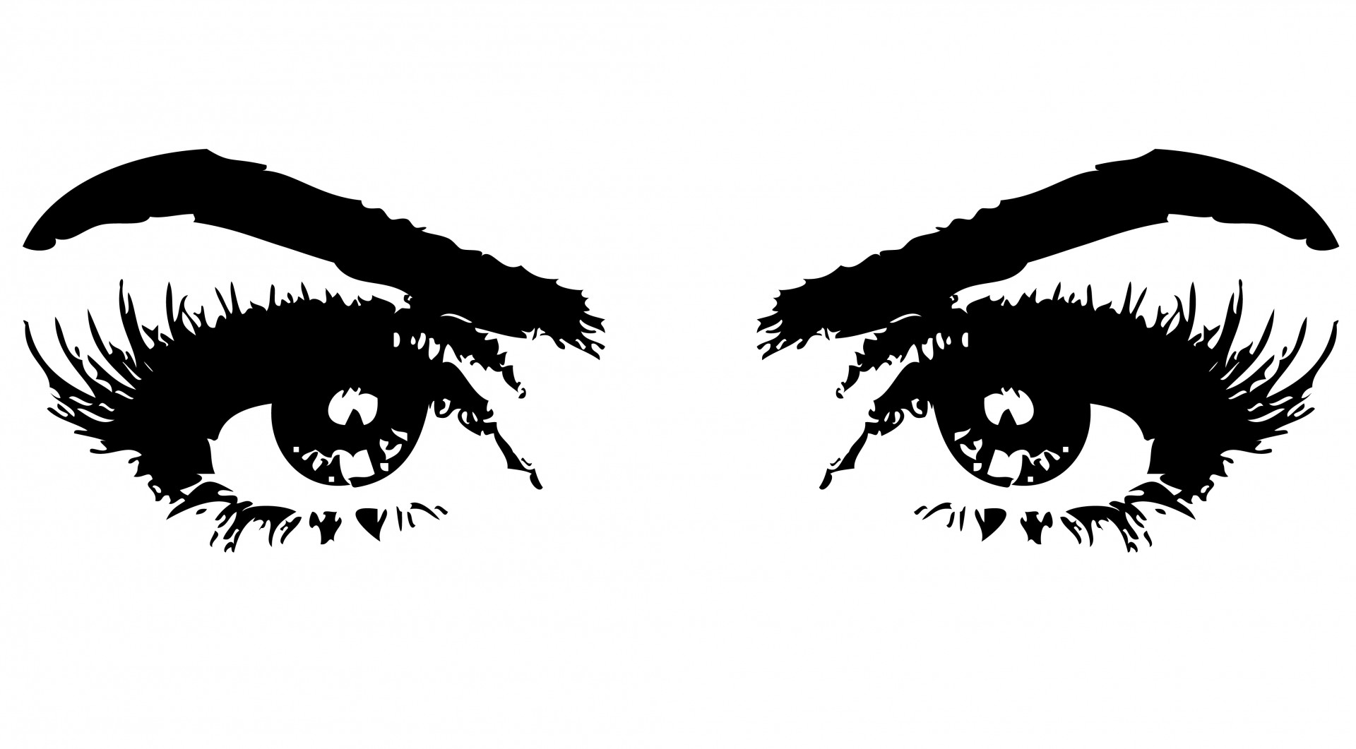 library Eyes of woman free. Public domain clipart.