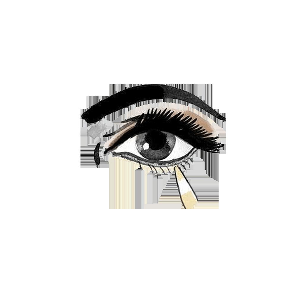 clip freeuse download Cosmetics make up eye. Eyeliner drawing.