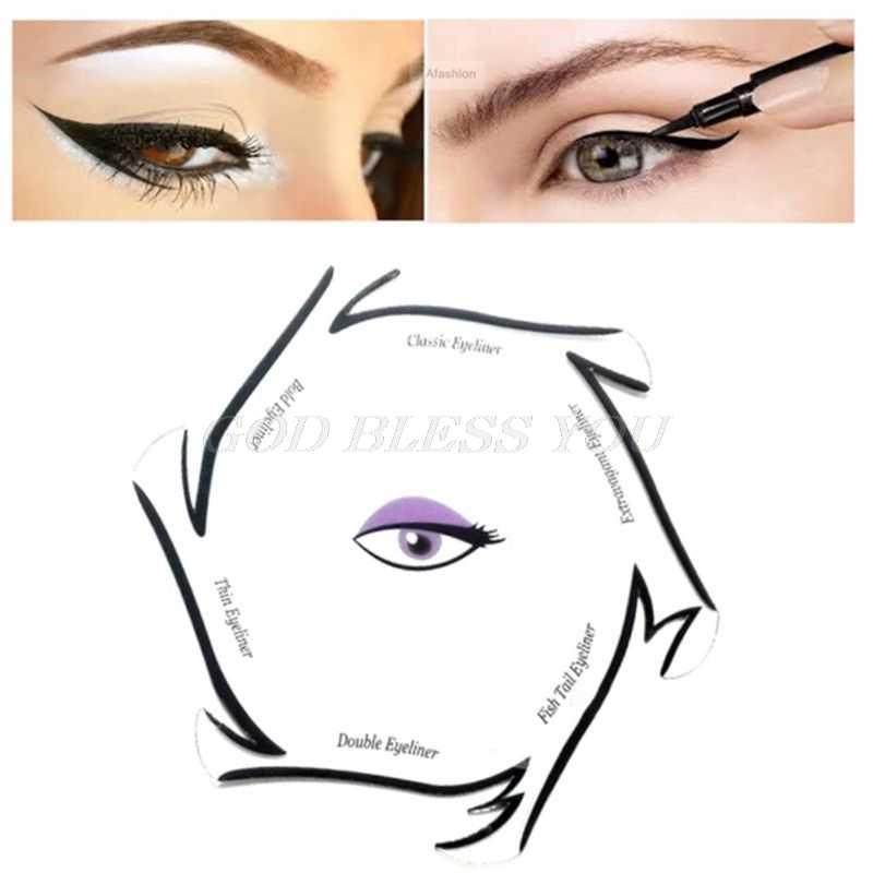 jpg Eyeliner drawing.  in template cards.