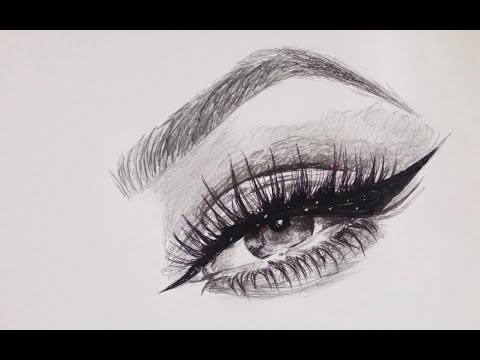 clipart royalty free download Eyeliner drawing. Winged speed art .