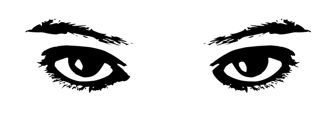 png freeuse library Eye Clipart Black And White Free