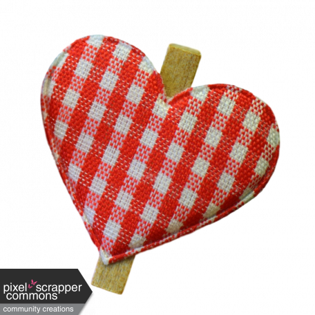 banner library download Plaid heart graphic by. Fabric clip.