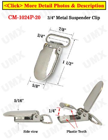 jpg library stock Fabric clip.  popular suspender clips.