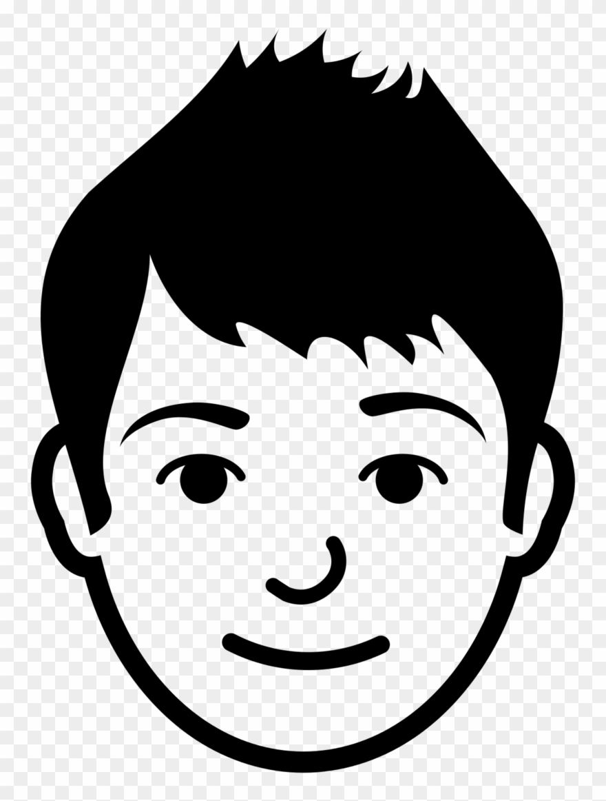 image free library Face clipart. Brother black and white
