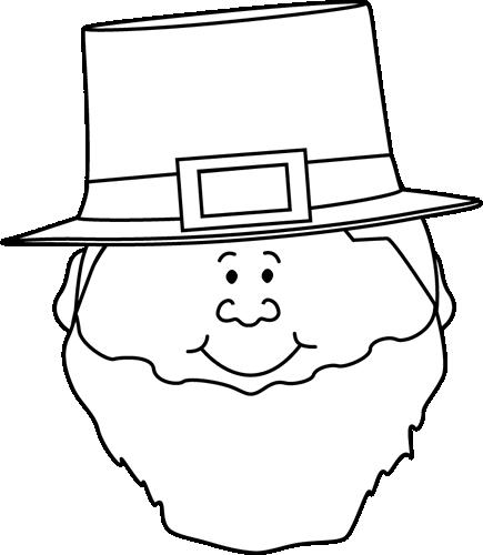 clipart free download Leprechaun clip art. Face clipart black and white