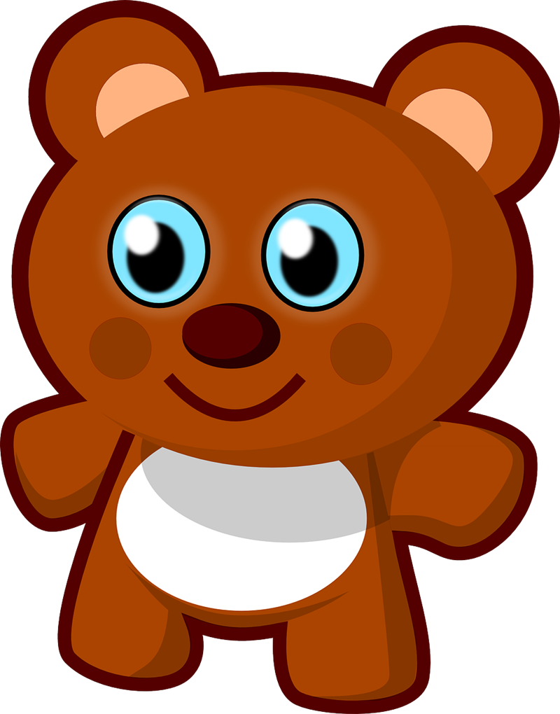 picture transparent library Brown bear face free. Cute animal clipart