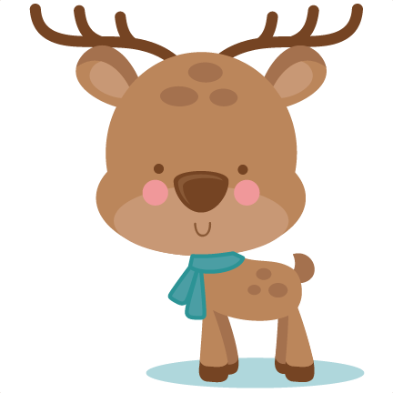 image library Girl Winter Deer SVG scrapbook cut file cute clipart files for