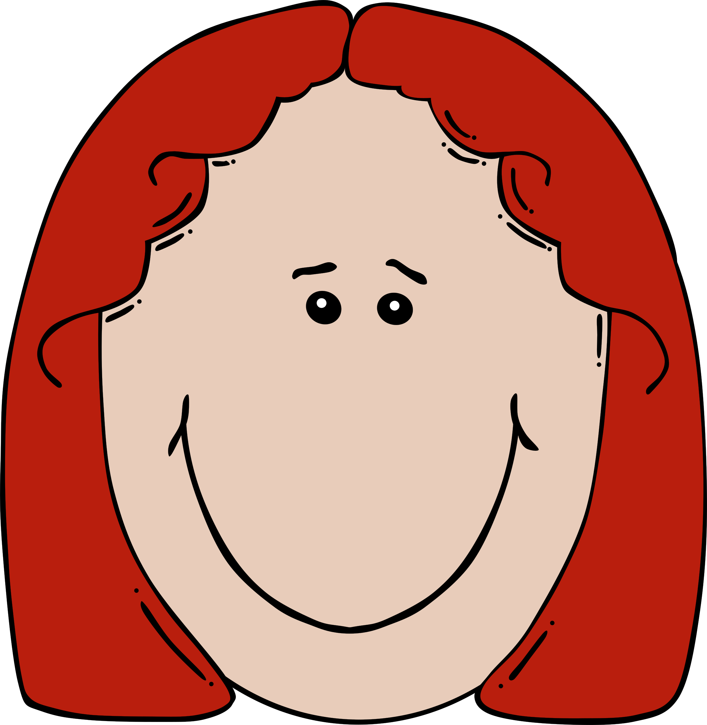 clip art freeuse library Lady face cartoon big. Faces clipart