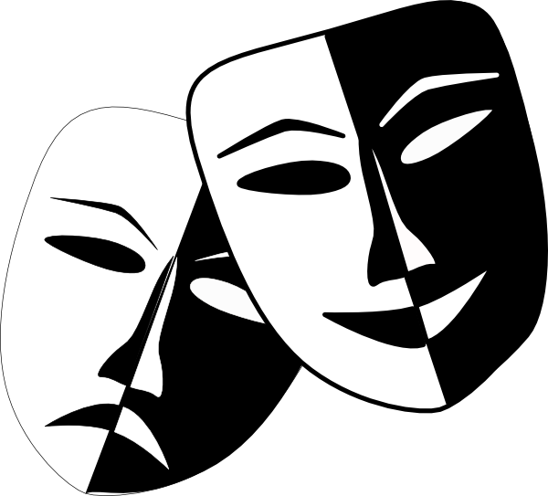 graphic free Theatre Masks Clip Art at Clker