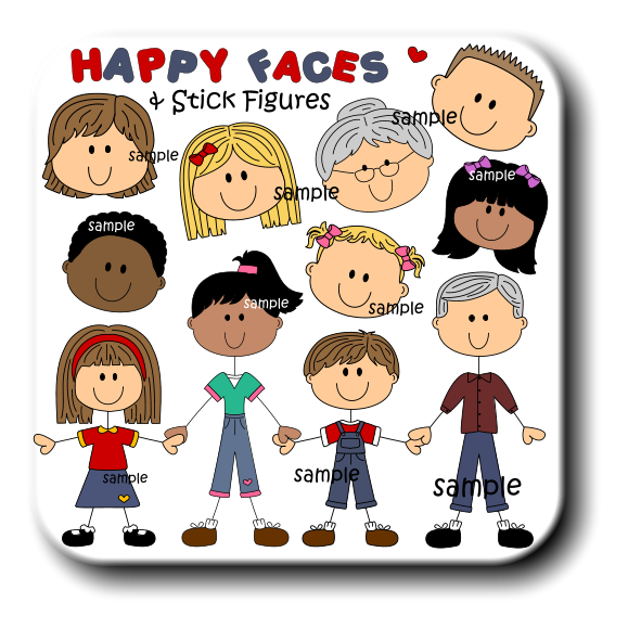 svg transparent download Faces clipart family member. Stick figures