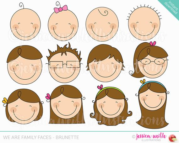banner transparent download We are brunette cute. Faces clipart family member