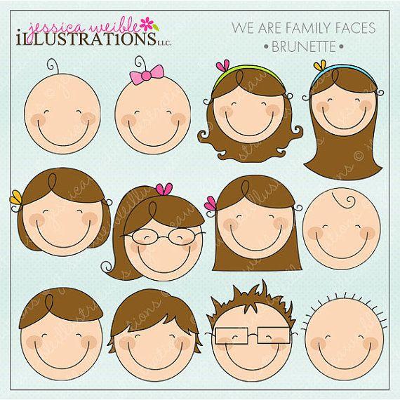 jpg freeuse stock Faces clipart family member. We are brunette cute.