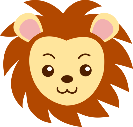 vector black and white library Faces clipart zoo. Cute lion face free