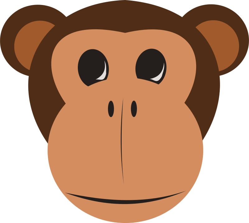 jpg free Free monkey face animals. Animal faces clipart