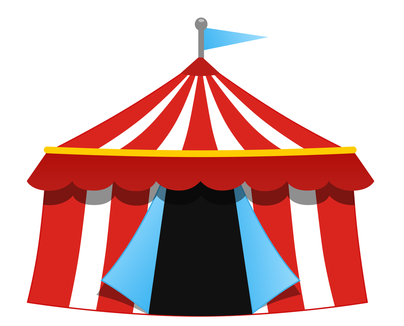 clip transparent library Fair tent clipart. Circo lona tenda pinterest