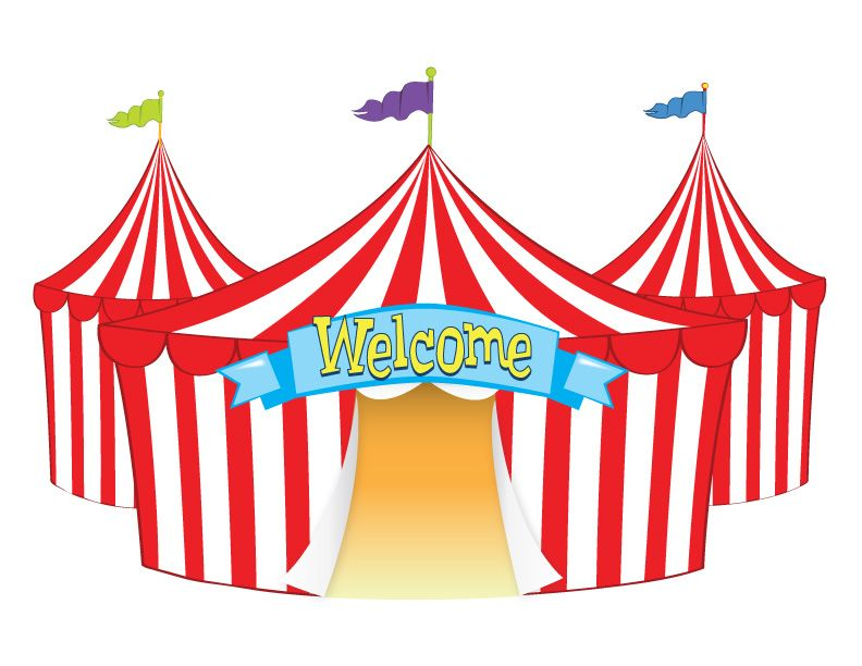 png black and white stock Big top circus clip. Fair tent clipart