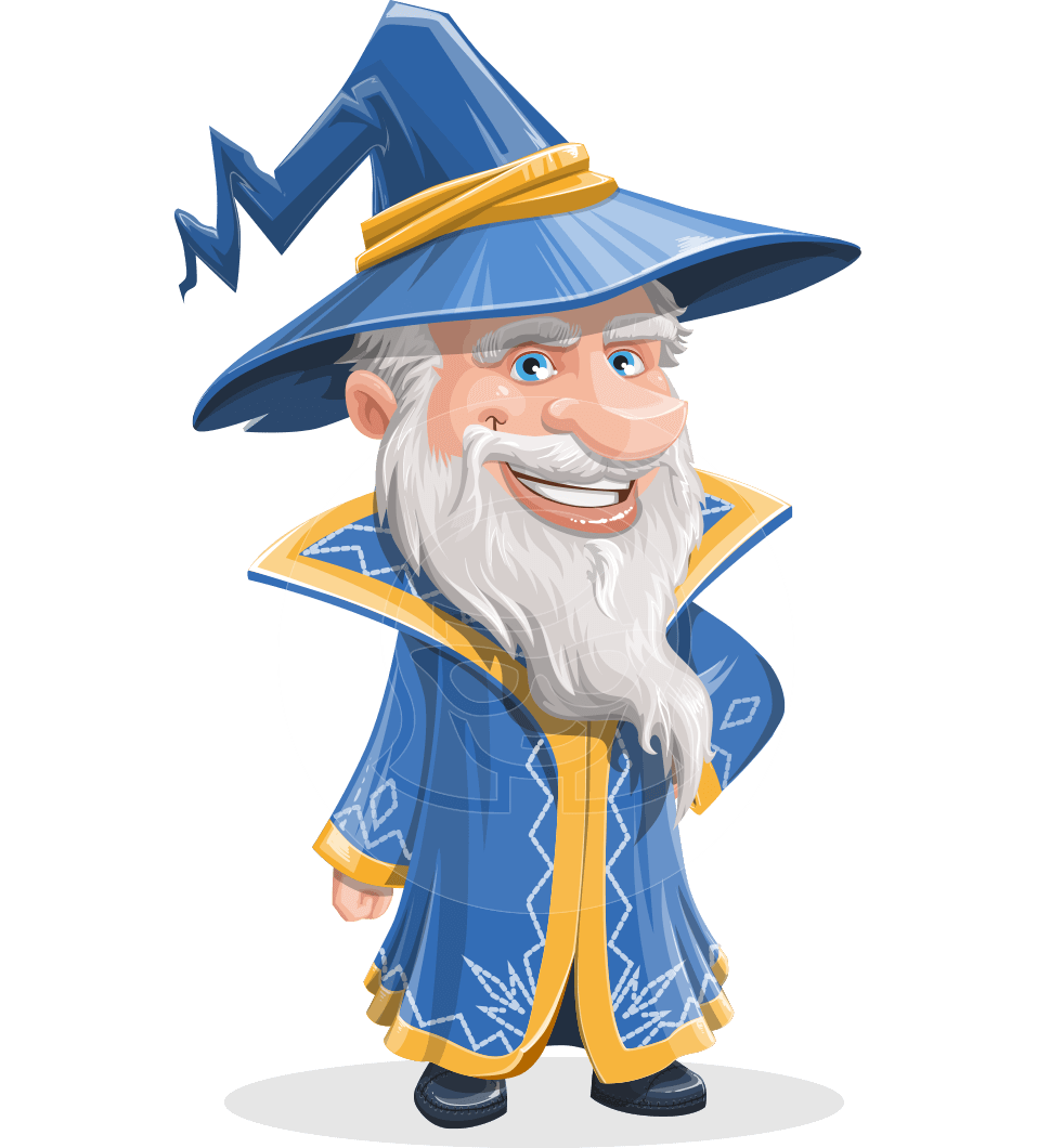 clip art library library Vector cartoons. Waldo the wise wizard