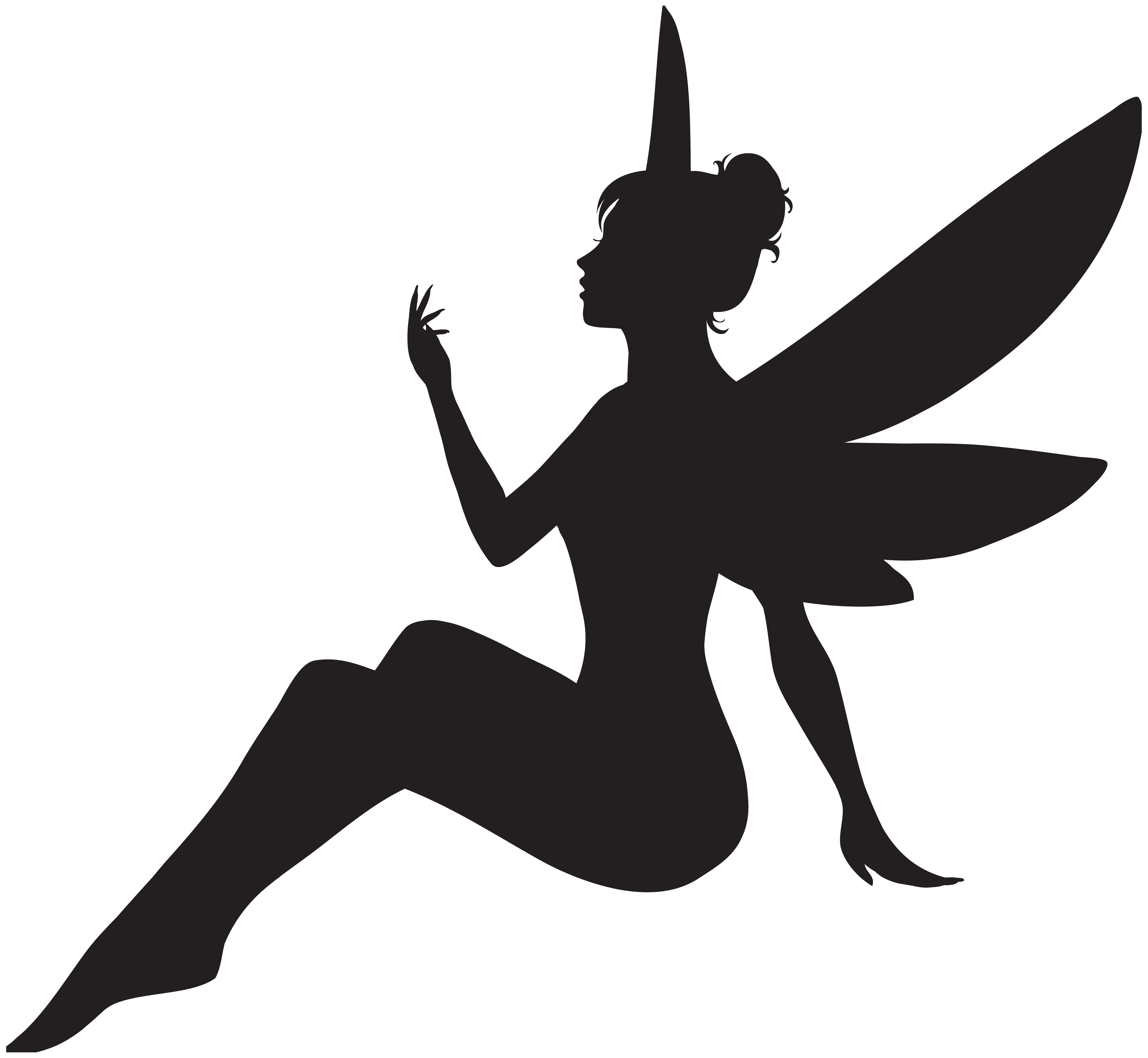 vector library download Silhouette Fairy at GetDrawings