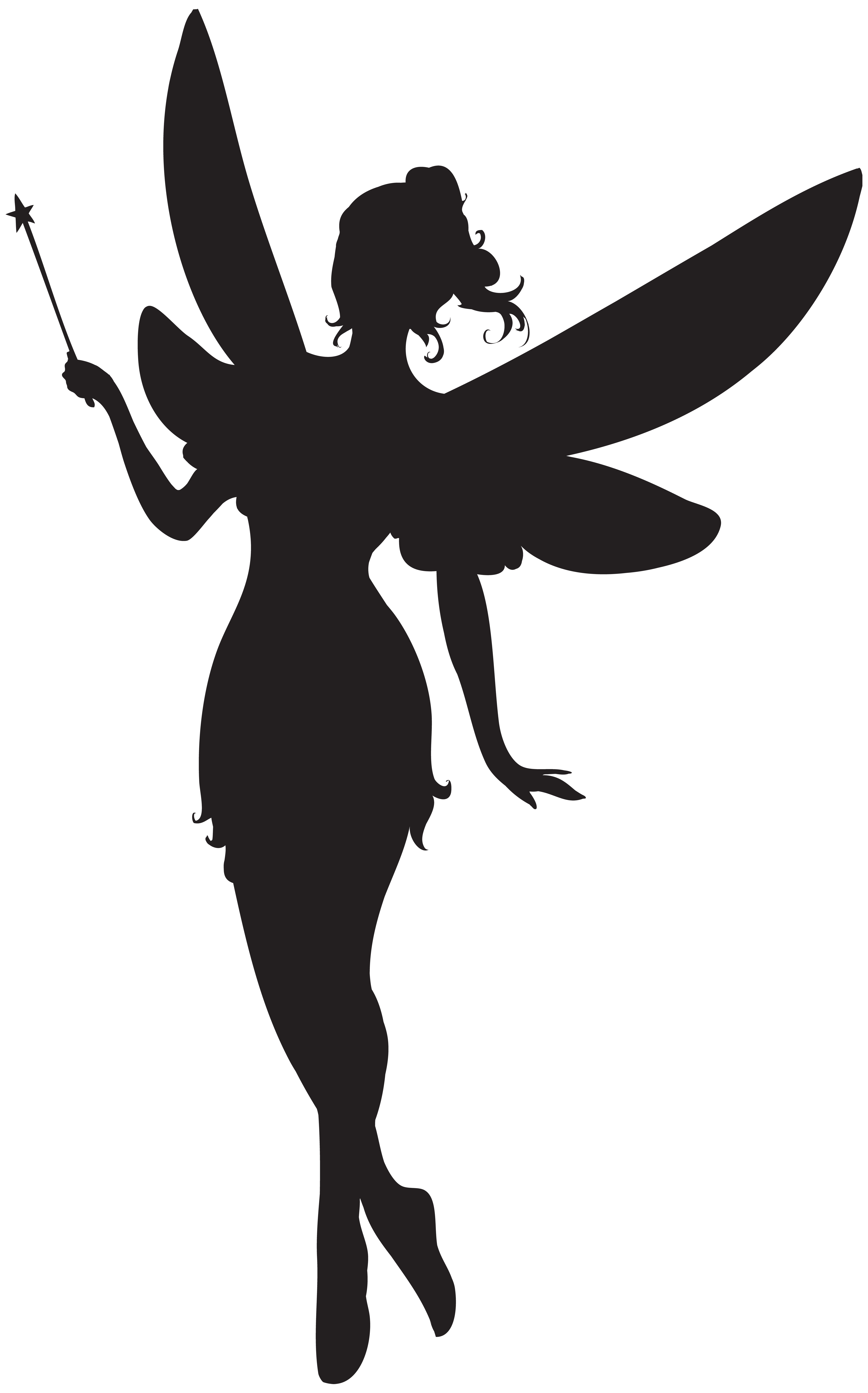 picture transparent Magic clipart hand holding wand. Fairy silhouette at getdrawings.