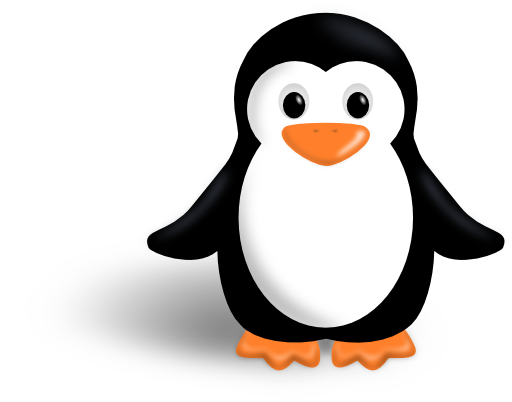 banner library library Little Penguin Clipart