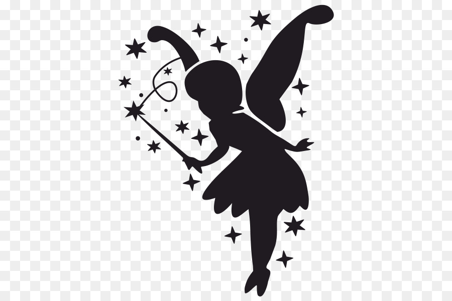 clip Butterfly and download free. Fairy transparent black white png