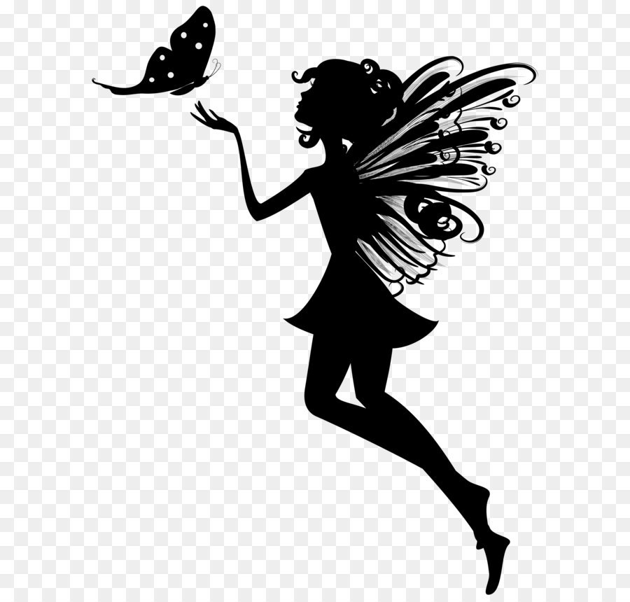 png freeuse download Fairy transparent black white png. Butterfly and download free