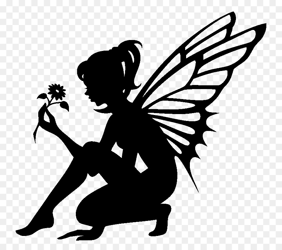picture royalty free And free . Fairy transparent black white png