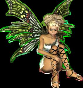 jpg free download Fantasy Fairy Blonde Sitting Green Wings