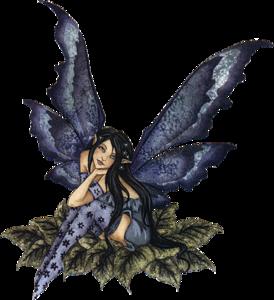jpg free download Fantasy Fairy Purple Sitting Leaves