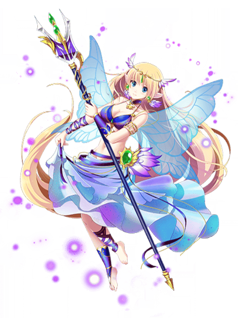 graphic stock Image viela the water. Fairy transparent rpg
