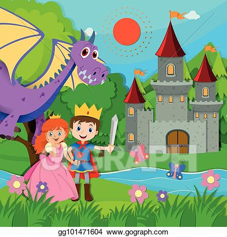 picture free stock Vector art with prince. Fairytale clipart fairytale scene