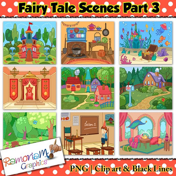 clipart library download Fairy tale clip art. Fairytale clipart fairytale scene