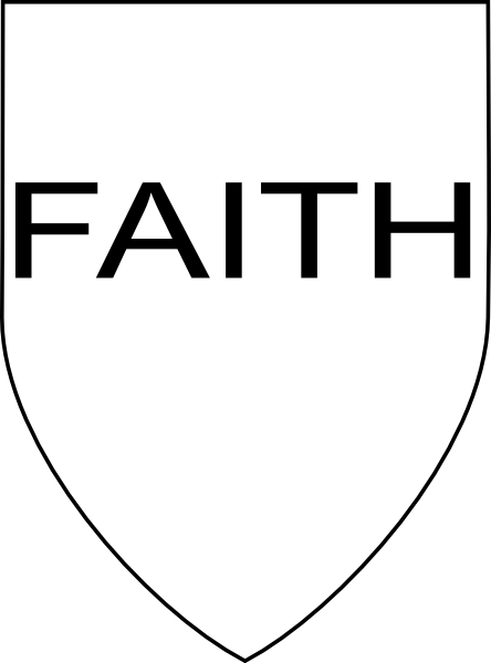 svg library download Shield of clip art. Faith clipart.