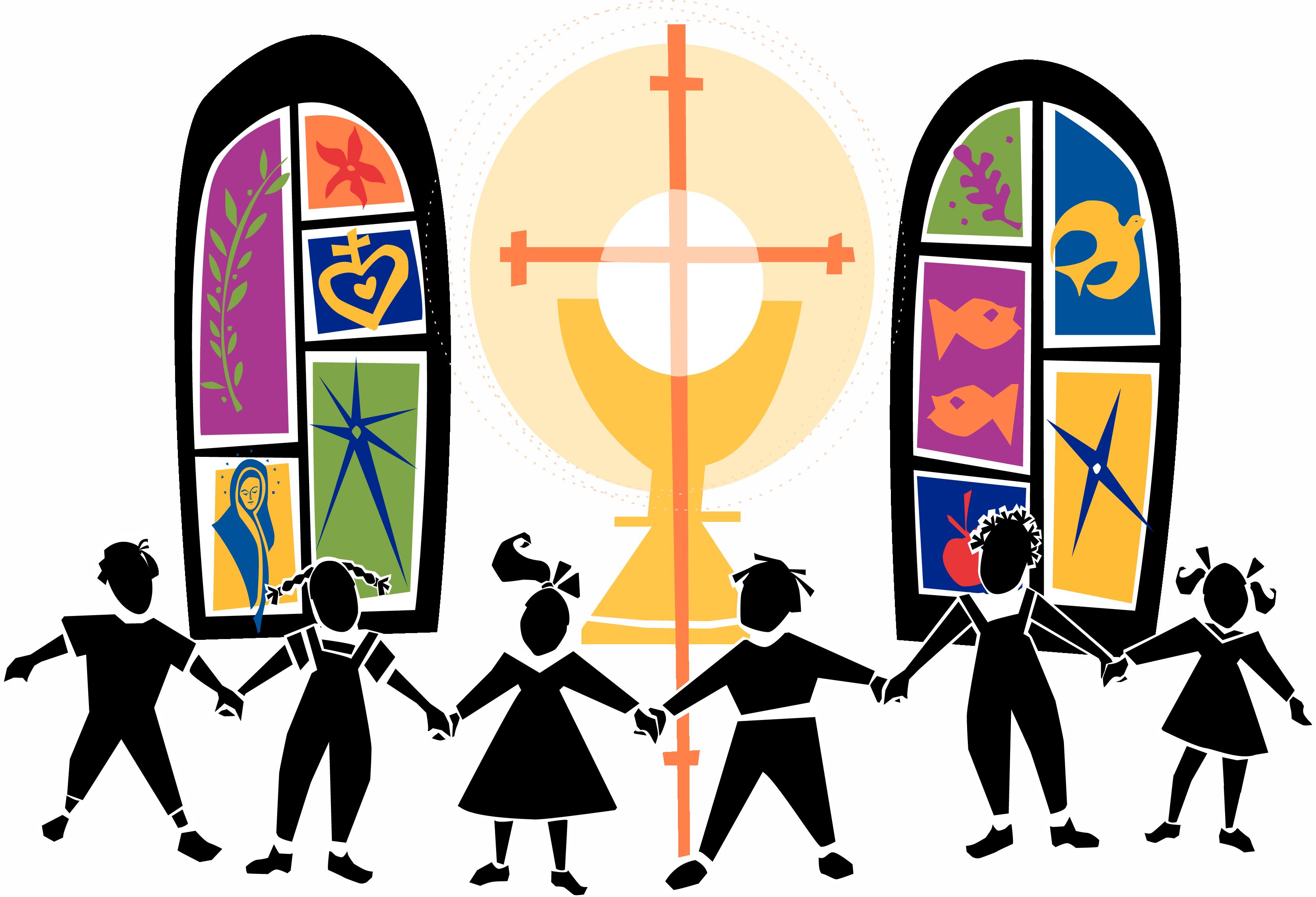 vector free Church Kids Clipart