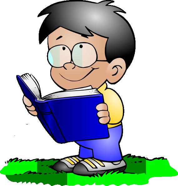 clip art library stock Children Reading Clip Art