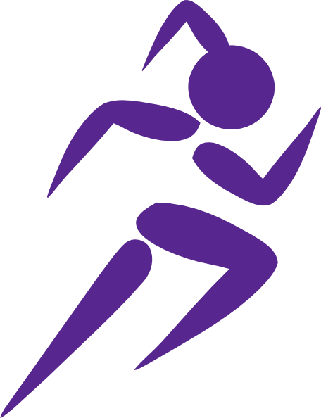 jpg royalty free Bib clip runner. Free art running woman