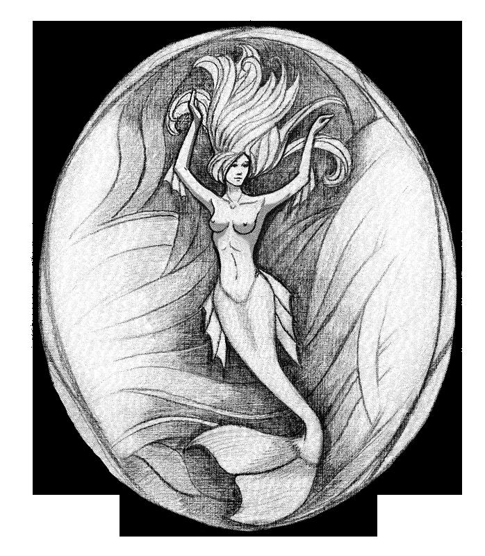 stock Pencil mermaid by NightCatty