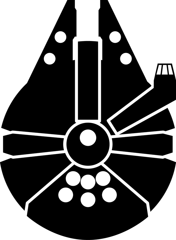 clip art transparent download Millennium Falcon