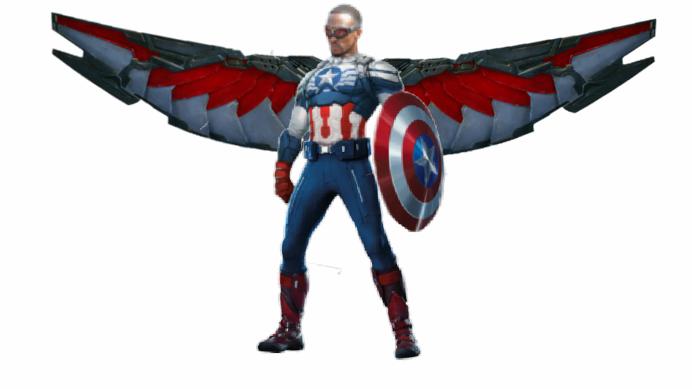 banner free stock Captain America Falcon PNG Render by MrVideo
