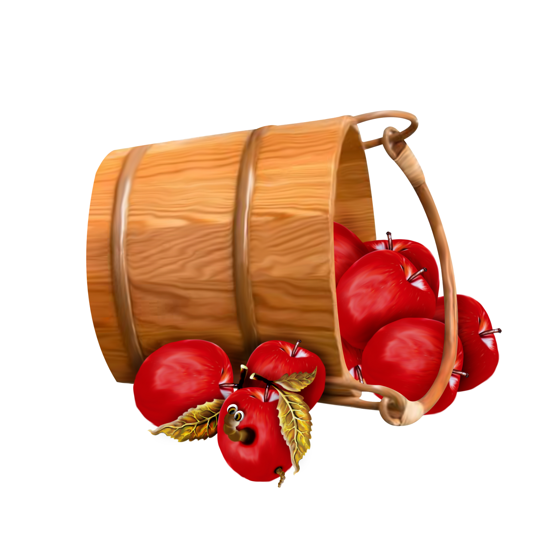 picture free library Bucket with transparent gallery. Fall apples clipart